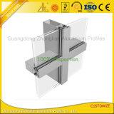 Perfil de alumínio revestido da parede de cortina da extrusão do pó
