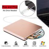 Externe DVD CD van de Aandrijving USB C DVD CD DVD van de Aandrijving van de Speler Externe Brander USB C Superdrive voor het Werk PC/Laptop/Mac/Air/PRO voor Vensters/MAC Osx/Uitzicht (nam Goud toe)