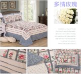 31를 위한 Prewashed 주문을 받아서 만들어진 Durable Comfy Bedding Quilted 1 피스 Bedspread Coverlet Set