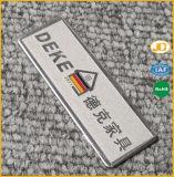 Nameplate металла названной плиты изготовленный на заказ логоса тавра латунный