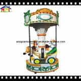 Giro della rotonda del carosello dei 3 pesci delle sedi per il parco di divertimenti dei capretti