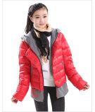 Fake curto para baixo casaco quente de duas peças para Girl