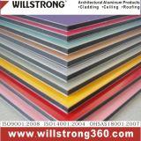 Matière composite en aluminium jaune du panneau 3mm/4mm pour le système décoratif