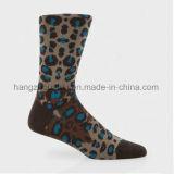Leopard-Korn-kühle gekämmte Baumwollmann-Socke