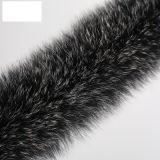 Производитель Фокс кремовый цвет меха газа/мех Фрезерование / куртка мех воротником, черное основание и белым Apex