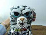 Cadeau animal de Noël de jouet effrayant de face bourré par peluche molle courageuse d'animaux familiers