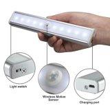 Licht van het Kabinet van de Sensor van de Motie USB het Navulbare 10 LEDs