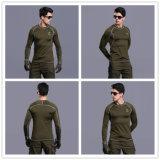 Biancheria intima termica militare dell'esercito dei Lungo-Manicotti del Tan del vestito caldo tattico di combattimento