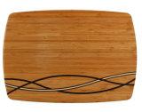 Hackender Bambusvorstand mit Streifen
