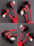 90度直角磁気USBの充電器ケーブル