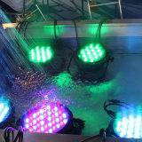 Farbe wasserdichtes LED NENNWERT Licht PAR54 des Gbr Stadiums-Beleuchtung-Fabrik-Zubehör-54*3W RGBW
