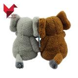 Luxuoso macio do logotipo feito sob encomenda da forma e brinquedos enchidos do elefante com orelhas grandes