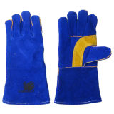 Kuh-aufgeteiltes Leder-Palmen-Schweißens-Arbeits-Handschuh--6535