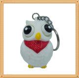 Подарки для животного Keychain сыча глаза малышей хлопая белого