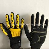 Отрежьте упорную перчатку работы безопасности с нитрилом Coate Sandy