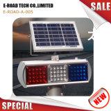 Camino de la energía solar la luz de advertencia Advertencia