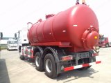 Sinotruk HOWO de alta calidad 6X4 6000L Camiones de aspiración de aguas residuales