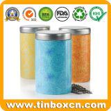 Insiemi della scatola metallica rotonda dello stagno del metallo per il tè dello zucchero del caffè