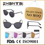 Lâmpada UV400 Cat Eye óculos de moda feminina com estrutura de aço inoxidável (HFF0022)