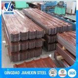 Strato di alluminio rivestito del tetto dello zinco di colore ondulato