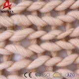 Couverture fabriquée à la main d'acrylique de maneton de Knit de câble de torsion de modèle neuf