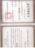 Certificat de constructeur de rambardes de classement de crédit