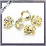 Gelber synthetischer Diamantkubikzirconia-Stein für Ringe