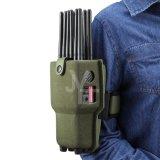 Brouilleur de signal de GM/M GPS de téléphone cellulaire de 12 antennes avec le cas en nylon