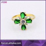 AAA CZ 18k позолоченными контактами разноцветных колец пальцев для женщин