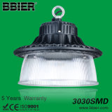 Alta luz del almacén de la bahía de la iluminación 150W 19600lm 5000K Dimmable de la bahía del UFO LED alta