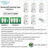 南アフリカ共和国のイギリスのスマートなプラグの情報処理機能をもったリモート・コントロール電力ソケット