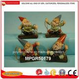 Decoração de jardim de Natal no exterior de resina estátua do Gnome Figura dons