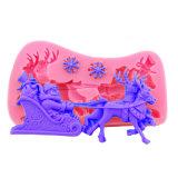Favorito FDA da criança da cor de /Pink do molde/Mousse/geléia/de alimento padrões de acondicionamento/chocolate do bolo do silicone do Natal/molde da certificação (XY-SM-212)