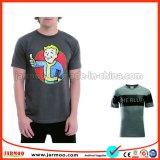 T-shirt van de Koker van de zwarte van de Kleur van de Vochtigheid Mensen van de Absorptie de Korte