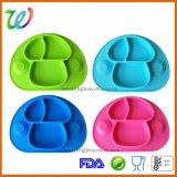 Mini plaque de Placemat d'aspiration de bébé de silicones ovales anti-caloriques