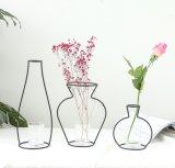 De creatieve Kleine Vazen van de Decoratie van het Bureau van de Woonkamer van het Huis van de Ornamenten van de Ambachten van het Smeedijzer