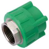 Encaixes de tubulação da fonte de água PPR da cor verde