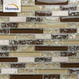 Nuevo azulejo de mosaico de cristal diseñado barato de Glossy&Tumbled del crujido