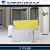 L'acrylique Surface solide Fancy comptoir de réception de style comptoir de réception des commerciaux