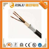 Fios isolados PVC da carcaça do cabo de cobre