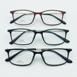 Óculos de moda de Aço de plástico óculos quadros óptica com o Templo de Metal
