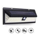 80 LED témoin du capteur de mouvement solaire extérieur grand angle de mur de sécurité du capteur de lumière avec 5 LED sur les deux côtés pour le jardin, jardin