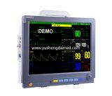 Monitor paciente do multiparâmetro portátil da polegada ICU do equipamento médico 12 do Ce