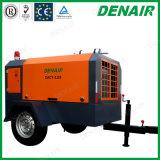 compresor de aire portable de 3-21m3 0.8MPa/movible diesel del tornillo con la barra de remolque usada en infante de marina
