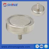D32mm het Sterke Neodymium van de Kracht van de Holding om de Magnetische Pot van de Basis met de BinnenStaaf van de Draad