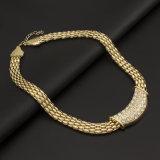 유럽과 미국 해외 무역 파열 Gold-Plated 4 피스 보석 새로운 다이아몬드 도금된 합금 목걸이 팔찌 한 벌