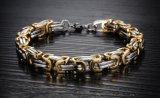 Het Zilver van de Juwelen van mensen/Zwarte/de Goud Geplateerde Armband & Armbanden Jewellry Pulseira Masculina 2018 van de Kettingdragers van de Armband van het Roestvrij staal