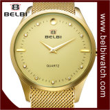 Couple Belbi simple Big dial montre-bracelet en acier ultra léger