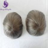 회색 색깔 머리 얇은 피부 가득 차있는 PU 머리 피스 (TP19)