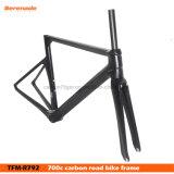 700C, fibra de carbono Bicicleta de carretera Tfm-R792 C Marcos freno Horquilla y tija Headeset